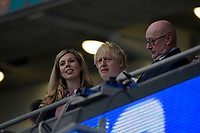 Carrie Symonds e Boris Johnson during the Uefa Euro 2020 Final football match between Italy and England at Wembley stadium in London (England), July 11th, 2021. <br /> Photo Andrea Staccioli / Insidefoto