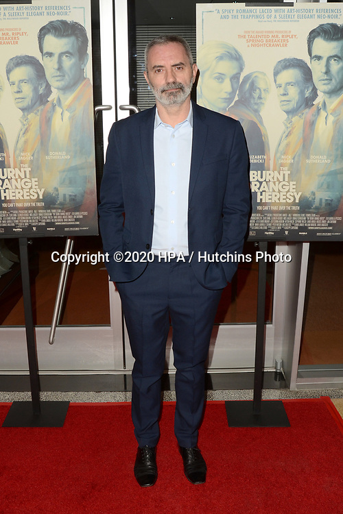 """LOS ANGELES - MAR 2:  Giuseppe Capotondi at the """"The Burnt Orange Heresy"""" Special Screening at the Linwood Dunn Theater on March 2, 2020 in Los Angeles, CA"""