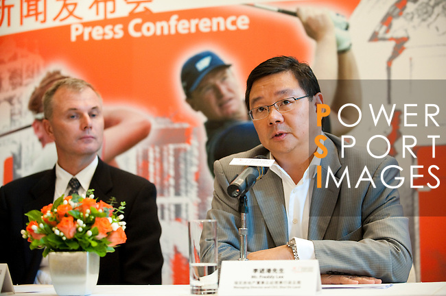 (L-R) Marc Boggia Director of Great 18 Golf Championship Ltd. and Freddy Lee Managing Director and CEO Shui On Land attends the press conference ahead the China Golf Challenge on August 29, 2011 in Shanghai, China. Photo by © Victor Fraile / The Power of Sport Images for Fast Track / Infinite Ideas International