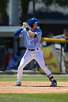 Jackson Lueck (34) of the Burlington Royals at bat against the Greeneville Reds at Burlington Athletic Stadium on July 8, 2018 in Burlington, North Carolina. The Royals defeated the Reds 4-2.  (Brian Westerholt/Four Seam Images)