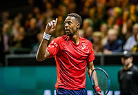 Rotterdam, The Netherlands, 16 Februari 2020, ABNAMRO World Tennis Tournament, Ahoy,<br /> Mens Single Final: Gaël Monfils (FRA) requests a challenge<br /> Photo: www.tennisimages.com
