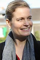 SARAH BIASINI (LA FILLE DE ROMY SCHNEIDER) - ASSISTE AUX VENDANGES DE MONTMARTRE A PARIS, FRANCE, LE 14/10/2017.