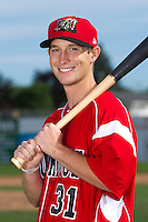 Batavia Muckdogs outfielder Jordan Walton #31 poses for a photo during media day at Dwyer Stadium on June 14, 2012 in Batavia, New York.  (Mike Janes/Four Seam Images)