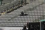 08.11.2020, Dietmar-Scholze-Stadion an der Lohmuehle, Luebeck, GER, 3. Liga, VfB Luebeck vs KFC Uerdingen 05 <br /> <br /> im Bild / picture shows <br /> Geisterspiel, ein einzlener Fotograf verfolgt das Spiel von der Tribuene aus<br /> <br /> DFB REGULATIONS PROHIBIT ANY USE OF PHOTOGRAPHS AS IMAGE SEQUENCES AND/OR QUASI-VIDEO.<br /> <br /> Foto © nordphoto / Tauchnitz