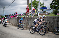 eventual stage winner Victor Campenaerts (BEL/Qhubeka ASSOS) in the breakaway group<br /> <br /> 104th Giro d'Italia 2021 (2.UWT)<br /> Stage 15 from Grado to Gorizia (147km)<br /> <br /> ©kramon