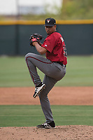 Arizona Diamondbacks relief pitcher Jhoan Duran (36) prepares to deliver a pitch during an Extended Spring Training game against the Colorado Rockies at Salt River Fields at Talking Stick on April 16, 2018 in Scottsdale, Arizona. (Zachary Lucy/Four Seam Images)