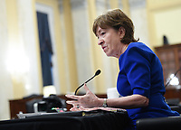 United States Senator Susan Collins (Republican of Maine) speaks at the US Senate Small Business and Entrepreneurship Hearings to examine implementation of Title I of the CARES Act on Capitol Hill in Washington, DC on Wednesday, June 10, 2020.   <br /> Credit: Kevin Dietsch / Pool via CNP/AdMedia