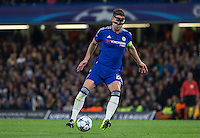 Gary Cahill of Chelsea controls the ball during the UEFA Champions League match between Chelsea and Maccabi Tel Aviv at Stamford Bridge, London, England on 16 September 2015. Photo by Andy Rowland.