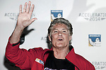 US actor David Hasselhoff poses in Acceleration 2014 festival presentation at Hotel Room Mate Oscar in Madrid, Spain. March 25, 2014. (ALTERPHOTOS/Victor Blanco)