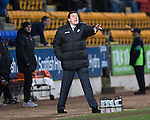 St Johnstone v Dundee United.....29.12.13   SPFL<br /> Tommy Wright shouts instructions<br /> Picture by Graeme Hart.<br /> Copyright Perthshire Picture Agency<br /> Tel: 01738 623350  Mobile: 07990 594431