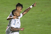 Santos (SP), 05.06.2021 - Santos-Ceará - O jogador marinho comemora gol. Partida entre Santos e Ceará valida pela 2. rodada do Campeonato Brasileiro neste domingo (5) no estadio da Vila Belmiro em Santos.