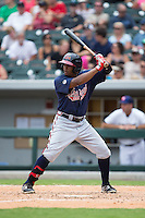 Cedric Hunter (27) of the Gwinnett Braves at bat against the Charlotte Knights at BB&T BallPark on July 3, 2015 in Charlotte, North Carolina.  The Braves defeated the Knights 11-4 in game one of a day-night double header.  (Brian Westerholt/Four Seam Images)