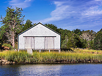 Rustic boathouse, Eastham, Cape Cod, Massachusetts, USA