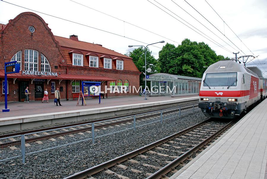 Estação ferroviária em Hameenlinna. Finlândia. 2007. Foto de Vinicius Romanini.