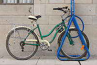 Bicycle rack in..Ottawa, Capital of Canada....photo : (c)  Images Distribution..