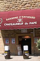 wine shop baronnie d'estouard chateauneuf du pape rhone france