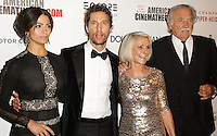 BEVERLY HILLS, CA, USA - OCTOBER 21: Camila Alves, Matthew McConaughey, Kay McConaughey, C.J. Carlig arrive at the 28th American Cinematheque Award Honoring Matthew McConaughey held at The Beverly Hilton Hotel on October 21, 2014 in Beverly Hills, California, United States. (Photo by Celebrity Monitor)