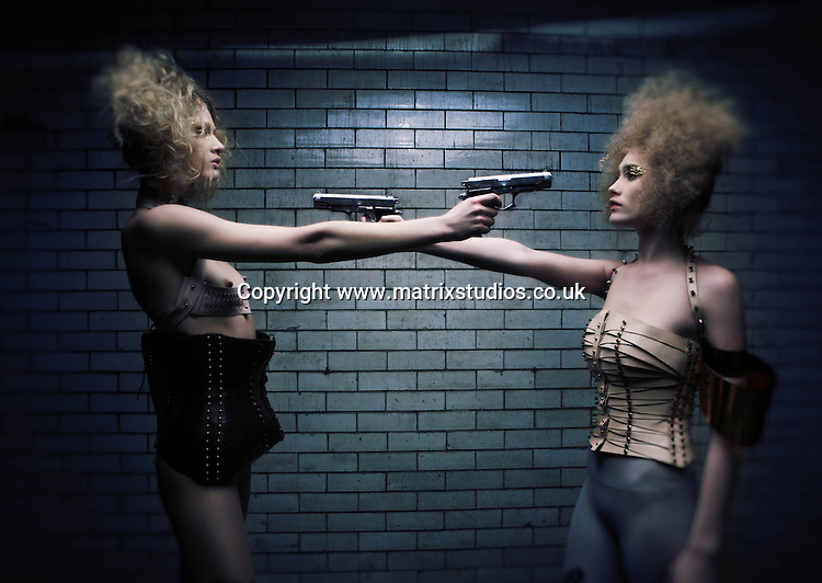 EXCLUSIVE PICTURE: MATRIXSTUDIOS.CO.UK.PLEASE CREDIT ON ALL USES..WORLD RIGHTS...***FEES TO BE AGREED BEFORE USE***..'Kiss Me Deadly' Fashion Shoot..REF: LBS 123109
