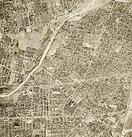 historical aerial photograph El Monte, Los Angeles county, California, 1952
