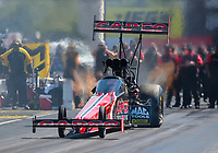 Sep 5, 2020; Clermont, Indiana, United States; NHRA top fuel driver Billy Torrence during qualifying for the US Nationals at Lucas Oil Raceway. Mandatory Credit: Mark J. Rebilas-USA TODAY Sports
