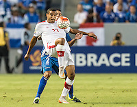 CARSON, CA - July 8, 2015: The 2015 Gold Cup match El Salvador vs Canada at the StubHub Center . Final score, El Salvador 0, Canada 0.