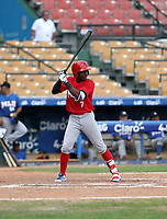 Orelvis Martinez participates in the MLB Showcase at the Estadio Quisqeye Juan Marichal on February 21-22, 2018 in Santo Domingo, Dominican Republic.