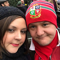 "Pictured: Ben Davies (R) with his fiancee Emily Russ.<br /> Re: Tributes have been paid to a senior member of staff at the Welsh Conservatives who died following an accident on his stag do.<br /> Ben Davies, 32, died on Sunday, a week after falling into a coma while on the Greek island of Mykonos.<br /> It is understood Mr Davies, from Cardiff, suffered a head injury following a fall.<br /> The deputy chief of staff of the Tory group in the assembly was due to marry his fiancee Emily Russ in three weeks.<br /> Vincent Bailey, a close friend and colleague of Mr Davies, said: ""He was incredibly bright and such a big character."