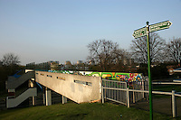 The Green Chain Walk in southeast London: at Lesnes Abbey in Abbeywood