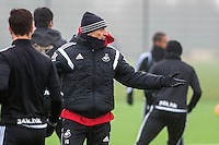 Thursday  21 January 2016<br />Pictured: Swansea Head Coach Francesco Guidolin  <br />Re: Swansea City Training Session at the Fairwood training ground