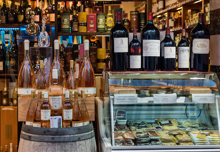 Wine and cheese shop, Antibes, France