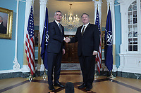 Washington, DC - November 14, 2019: U.S. Secretary of State Michael Pompeo meets with NATO Secretary General Jens Stoltenberg at the Department of State in Washington, D.C. November 14, 2019. (Photo by Lenin Nolly/Media Images International)