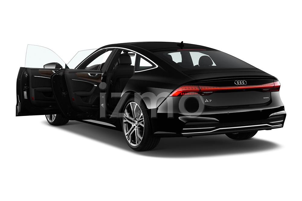 Car images close up view of a 2019 Audi A7 Prestige 5 Door Hatchback doors