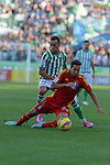 Beti's Kadir (L) and Huelva's Montoro during the match between Real Betis and Recreativo de Huelva day 10 of the spanish Adelante League 2014-2015 014-2015 played at the Benito Villamarin stadium of Seville. (PHOTO: CARLOS BOUZA / BOUZA PRESS / ALTER PHOTOS)
