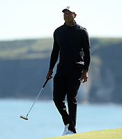 140719 | The 148th Open - Sunday Practice<br /> <br /> Tiger Woods on the 5th green during practice for the 148th Open Championship at Royal Portrush Golf Club, County Antrim, Northern Ireland. Photo by John Dickson - DICKSONDIGITAL