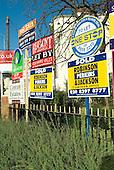 Estate agents' boards in Lewisham, London