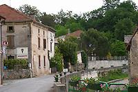 village street crozes hermitage rhone france