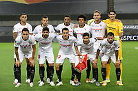 21st August 2020, Rheinenergiestadion, Cologne, Germany; Europa League Cup final Sevilla versus Inter Milan;  Players of Sevilla pose for a team photo prior to the UEFA Europa League Final