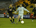 02/02/2008    Copyright Pic: James Stewart.File Name : sct_jspa10_livingston_v_partick_th.DAVID RAWSON GETS AWAY FROM LEE MAKEL.James Stewart Photo Agency 19 Carronlea Drive, Falkirk. FK2 8DN      Vat Reg No. 607 6932 25.Studio      : +44 (0)1324 611191 .Mobile      : +44 (0)7721 416997.E-mail  :  jim@jspa.co.uk.If you require further information then contact Jim Stewart on any of the numbers above........