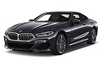 2019 BMW 8 Series M Sport 2 Door Coupe angular front stock photos of front three quarter view