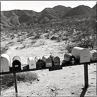 Mailboxes in the desert<br />