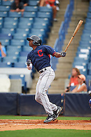 Thomas Jones (22) of Laurens Dist 55 High School in Greenville, South Carolina playing for the Cleveland Indians scout team during the East Coast Pro Showcase on July 28, 2015 at George M. Steinbrenner Field in Tampa, Florida.  (Mike Janes/Four Seam Images)