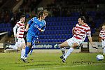 St Johnstone v Hamilton Accies....02.02.11  .Stevie May scores to make it 1-0, his first senior goal for saints.Picture by Graeme Hart..Copyright Perthshire Picture Agency.Tel: 01738 623350  Mobile: 07990 594431