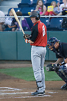 August 14, 2007: Infielder Matthew Downs of the Salem-Keizer Volcanoes gets signs from the third base coach before getting in the batter's box against the Everett AquaSox during a Northwest League game at Everett Memorial Stadium in Everett, Washington.