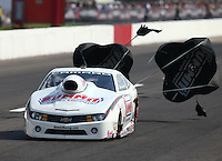 Sep 28, 2013; Madison, IL, USA; NHRA pro stock driver Greg Anderson during qualifying for the Midwest Nationals at Gateway Motorsports Park. Mandatory Credit: Mark J. Rebilas-