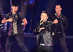 Nick Carter (center) of the Backstreet Boys performs on the co-headlining tour with the New Kids on the Block at the 1st Mariner Arena in Baltimore, Maryland May 29, 2011. .Copyright EML/Rockinexposures.com.