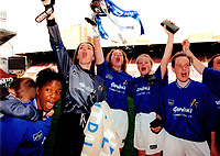 Millwall players celebrate victory during Millwall Lionesses vs Wembley, FA Women's Cup Final Football at the New Den, Millwall FC on 4th May 1997