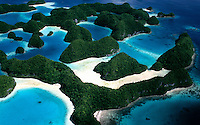 Aerial over the Rock Islands Palau
