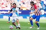 Atletico de Madrid's player Filipe Luis and Deportivo de la Coruña's player Emre Colak during a match of La Liga Santander at Vicente Calderon Stadium in Madrid. September 25, Spain. 2016. (ALTERPHOTOS/BorjaB.Hojas)