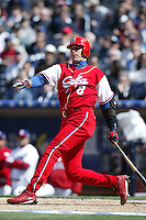 Ariel Pestano of the Cuban national team during game against the Dominican Republic team during the World Baseball Championships at Petco Park in San Diego,California on March 18, 2006. Photo by Larry Goren/Four Seam Images