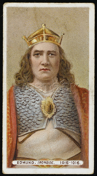EDMUND II IRONSIDE  King of England for seven months in 1016 / Unattributed design on a cigarette card / 993? - 1016